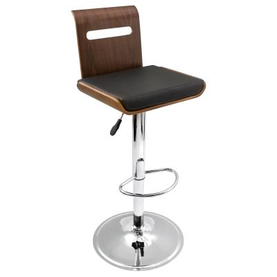Viera Barstool in Walnut & Black - BS-JY-VIERA-WAL