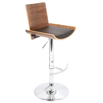Vittorio Barstool in Walnut Brown - BS-JY-VIT-WL-BN