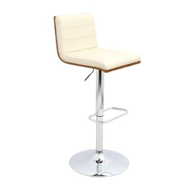Vasari Barstool in Walnut & Cream - BS-JY-VSR-WL-CR