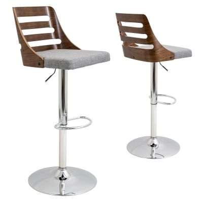 Trevi Barstool in Walnut & Grey - BS-TRV-WL-GY