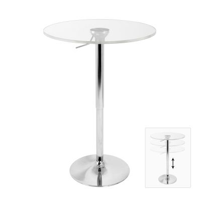 Adjustable Bar Table in Clear - BT-ADJ23TW-CL