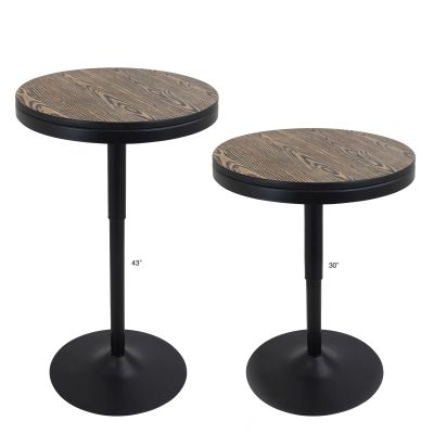 Dakota Bar Table in Medium Brown Top - BT-DAK-BK