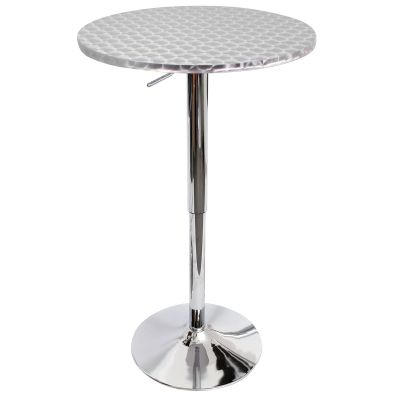 Bistro Round Bar Table in Silver - BT-TLBISTRO23RN