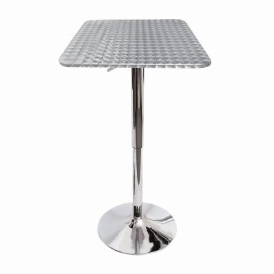 Bistro Square Bar Table in Silver - BT-TLBISTRO23SQ