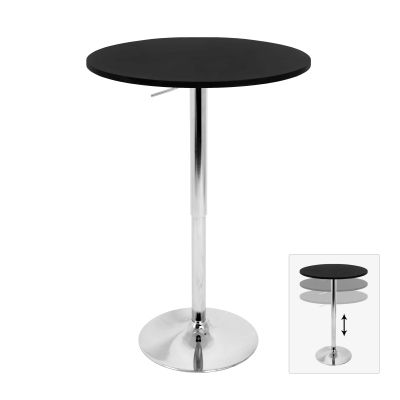 Elia Bar Table in Black - BT-TLELIA27-BK