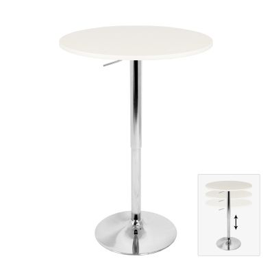 Elia Bar Table in White - BT-TLELIA27-W