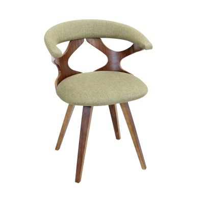 Gardenia Chair in Green & Walnut - CH-GARD-WL-GN