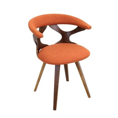 Gardenia Chair in Orange & Walnut - CH-GARD-WL-O