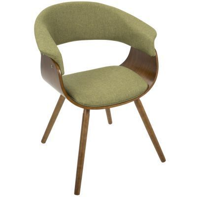 Vintage Mod Chair in Walnut and Green - CH-VMO-WL-GN