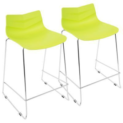 Arrow Counter Stool in Lime Green - CS-ARROW-LG2