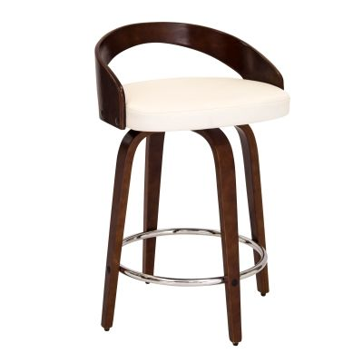 Grotto Counter Stool in Cherry White - CS-JY-GRT-CH-W