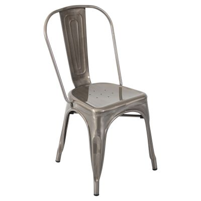 Oregon Dining Chair in Brushed Silver - DC-TW-OR-SV2