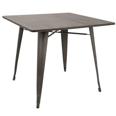 Oregon 36'' Farmhouse Dining Table in Metal and Espresso - DT-OR3636-AN-E