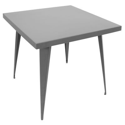 Austin 32x32' Dining Table in Matte Grey - DT-TW-AU3232-GY