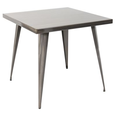 Austin 32x32' Dining Table in Brushed Silver - DT-TW-AU3232-SV