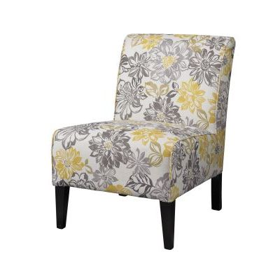 Lily Bridey Accent Chair in Yellow and Gray - 36092BRID-01-KD-U