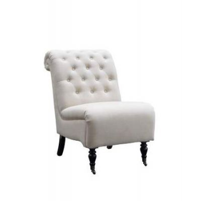 Cora Natural Roll Back Tufted Chair - 368255NAT01U