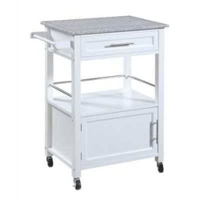 Mitchell Kitchen Cart With Granite Top - 464808WHT01U