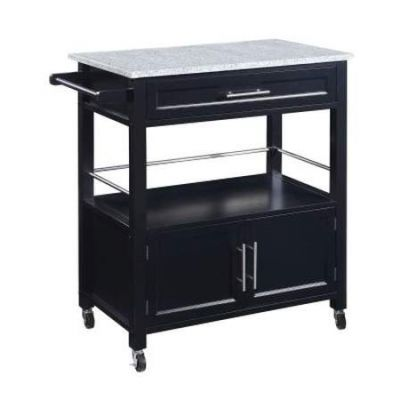 Cameron Kitchen Cart With Granite Top - 464809BLK01U