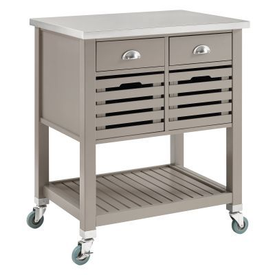 Robbin Wooden Kitchen Cart in Grey - 464810GRY01U