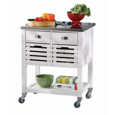 Robbin Kitchen Cart in White - 464810WHT01U