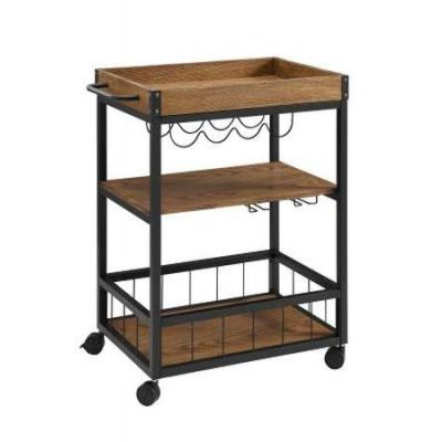 Austin Kitchen Cart in Black - 464908MTL01U
