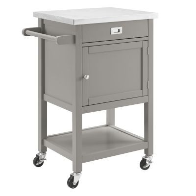 Sydney Gray Apartment Kitchen Cart - 464918GRY01U
