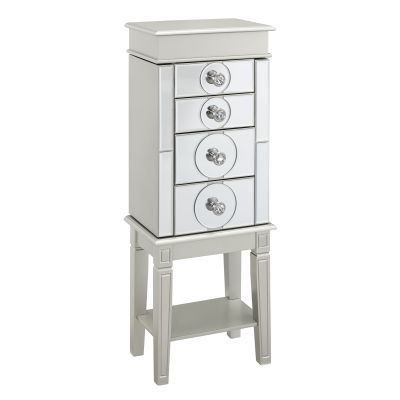 Madison Silver Jewelry Armoire in Silver - 556068SIL01U