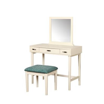 Garbo Vanity With Bench in Cream - 580051CRM01