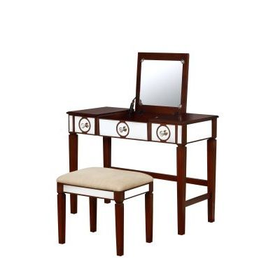 Madison Walnut Vanity Set in Walnut - 580454WAL01U