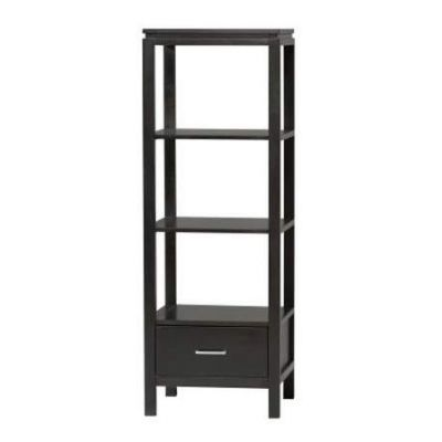 Sutton Black Plasma Tv Tower in Black - 84025BLK-01-KD-U
