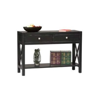 Anna Collection Console Table in Antique Black Finish - 86107C124-01-KD-U