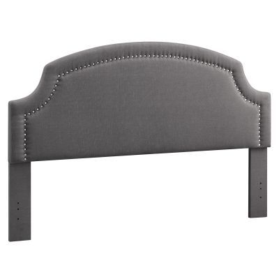 Regency King Upholstered Headboard in Charcoal