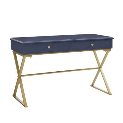 Blue and Gold Campaign Writing Desk - AHWDESKBLD1
