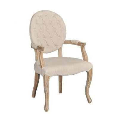 Exeter Linen Arm Chair in Light Brown - W03485L