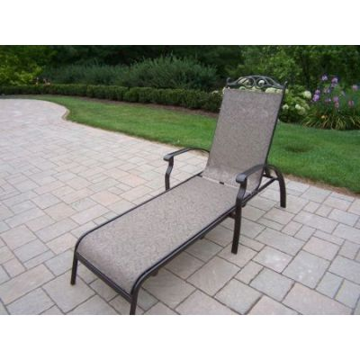 Cascade Aluminum Foldable Sling Chaise Lounge - 10605-L-CF