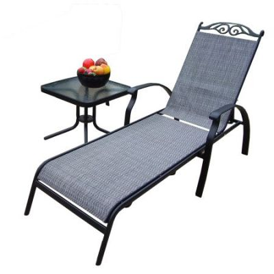 Cascade 2 Piece Chaise Lounge Set - 10605-L1ET1-2-BK