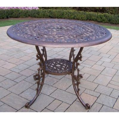 Mississippi Cast Aluminum 42-inch Round Dining Table - 2011-AB