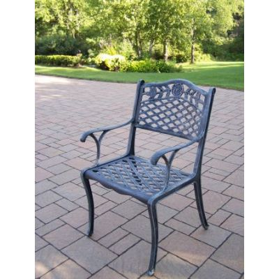 Tea Rose Cast Aluminum Dining Chair - 3012-VG