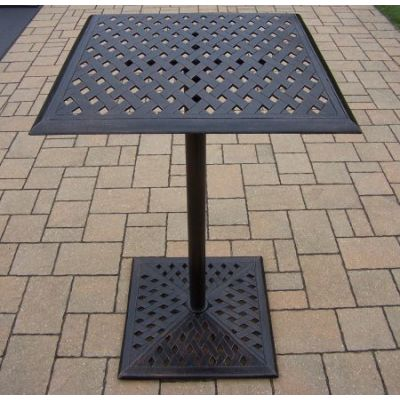 Cast Metal Square Bar Table - 3021-BT2644-AB