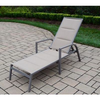 Padded Sling Aluminum Chaise Lounge - 3731-L-CP