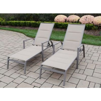 Padded Sling Aluminum Chaise Lounges - 3731-L2-CP