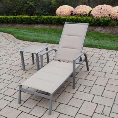 2 Piece Padded Sling Chaise Lounge Set - 3731L1-3732ET-2-CP