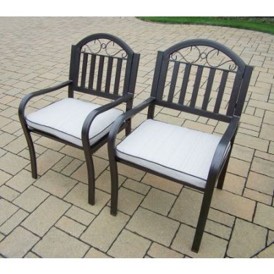 Pair of Rochester Arm Chair with Cushions - 3830-C2-OM-4-HB