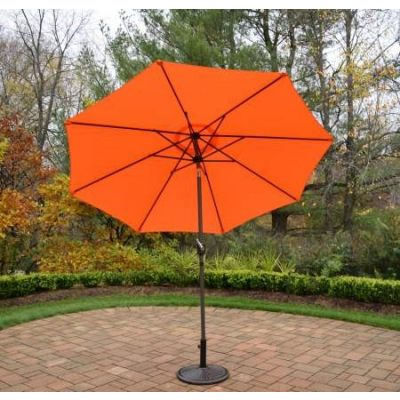 9 foot Umbrella with Crank plus Tilt system - 4005-ORBN-4230AB