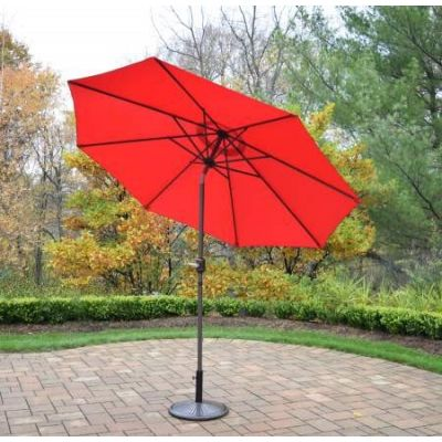 9 foot Metal Framed Umbrella with Crank plus Tilt system - 4005-RDBN-4230AB