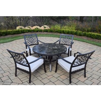 Stone Art Deep Seating 5 Pc. Chat Set with Cushions - 70005T-76001C4-OM-9-HB