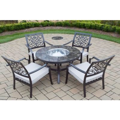Stone Art Deep Seating 6 Pc. Chat Set with Cushions - 70005T-76001C4-OM-SS-10-HB