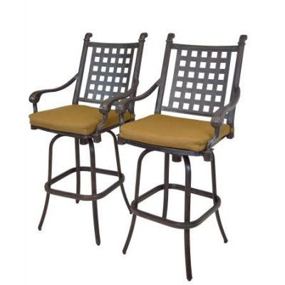 Belmont Aluminum Swivel Bar Stool 2 Piece Set - 7802-BS2-D54-MC