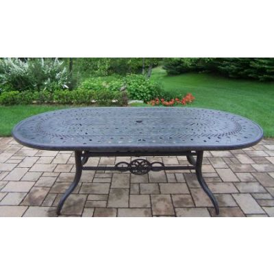 Belmont Aluminum 84x42-inch Oval Dining Table - 7804-T8442-MC